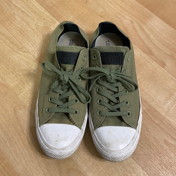 Womens Army Green Converse Size 10